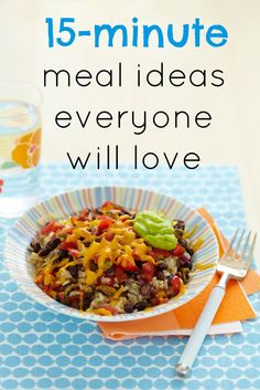 Easy recipes! These are our favorite 15-minute meal ideas that the whole family will love - great for busy weeknights