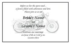motorcycle themed wedding invitations' | Auctions of any amount are availabe. Simply contact me with your needs ...