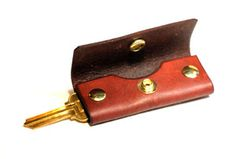 Edison MFG Co. Leather Key Pocket Case in Mahogany