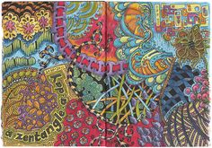 #Color #zentangle