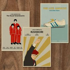 16x12 Wes Anderson set of 3 Movie Posters. $39.90, via Etsy.