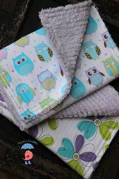 Baby Chenille Burp Cloths w/Super Absorbency - Purple Lavender Chenille - Hoot Owl Burp Cloths - Infant Burp Cloths. $12.00, via Etsy.