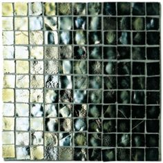 fired earth mosaic iridescent glass pewter