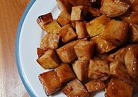 Amazing Sweet and Spicy Tofu Nuggets: Slightly spicy, slightly sweet, totally yummy!