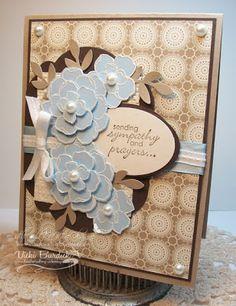 addinkt challeng, prayer, challenges, secret gardens, stamp thing, card, brown blue, blues, flower