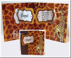 Frances Byrne using the Pop it Ups Katie Label Pivot Card die set by Karen Burniston for Elizabeth Craft Designs - C4C240Trouble1-wm