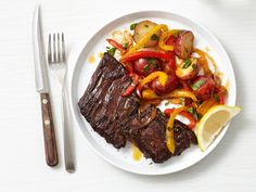 Skirt Steak with Peppers from #FNMag