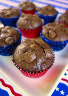 Peanut Butter Cup Brownie Muffins