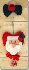 Santa Claus in the heart. DIY
