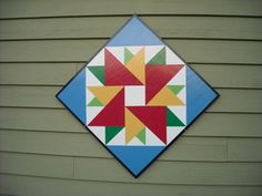 MY barn quilt..  David Snow (Barn Quilts by Dave) just finished it!!  I LOVE it!!!