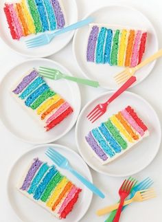 Rainbow cake. #coloreveryday