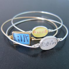 Child's Signature Bracelet, Personalized Grandma or Mom Gift