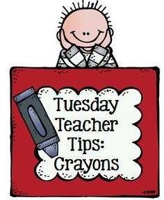 Tuesday Teacher Tips: Crayon Management. Plus free printable