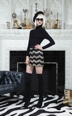 Leigh Sequined High Waist Skirt
