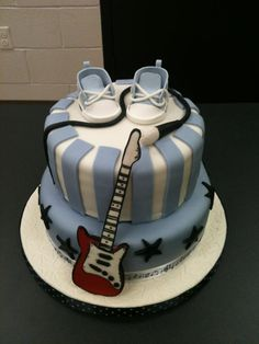 Rock Star baby shower cake