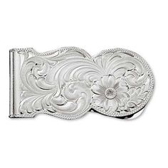 Montana Silversmiths Silver Engraved Western Money Clip  #valentinesday
