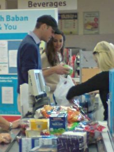 Kate and William grocery shopping.