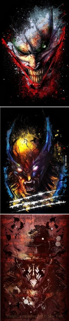 Awesome comic character posters