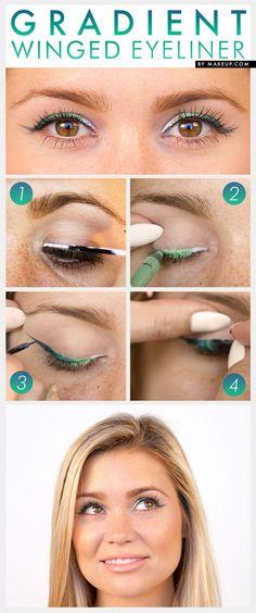 gradient winged eyeliner tutorial