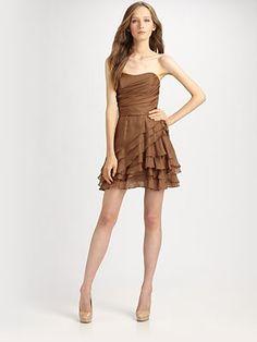 Multi layer ruffle skirt, shirr bodice, add spaghetti straps, waist seam