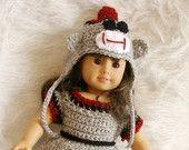 18in. doll Sock Monkey Set Pattern