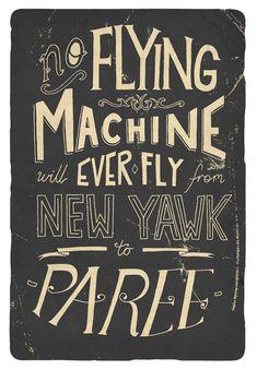 no flying machine