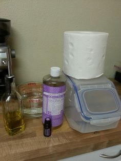My Baby wipes recipe- 1 role of good quality paper towel cut in half with cardboard center removed, 1 contianer to fit your role, in a large measuring cup add 2 cups water, 2 Tbl olive oil, 2 Tbl Dr.Bronners lavender soap and 3 drops doTERRA Lavender. Stir and poor over papertowel! Pull from center of role. Adjust to your liking!