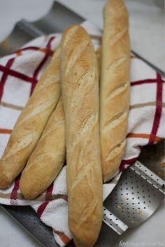 Barras de pan con masa madre