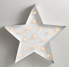 This vintage illuminated star light would really make a statement in any space #rhbabyandchild #fallinlove