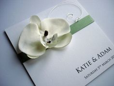 """Bedazzle Cards """"Turin"""" Orchid Invitation"""