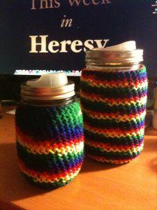 Mason Jar cozy.