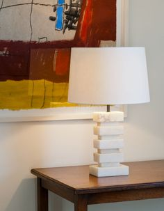 Cartagena Table Lamp - Alabaster (Bronze) - Contemporary Table Lighting - Dering Hall