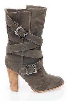 Grey Strappy Boot