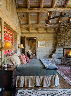 rustic bedrooms, wood, dreams, logs, log cabins