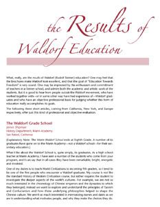 Results of Waldorf Education