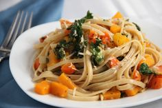 Winter Vegetable Pasta with White Wine and Parmesan