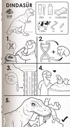 """The last pinner said: """"IKEA manual for T-rex"""" How amusing."""