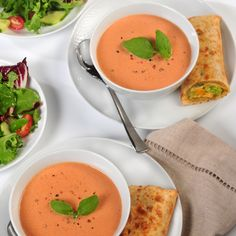Easy Creamy Tomato Soup           (Easy; 4 servings, 3/4 cup each) #tomato #soup