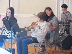 Tamarack's Jazz Ensemble performing for grandparents on Grandparent's Day.