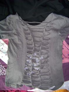 revamping old t-shirt