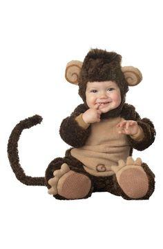 Adorable monkey baby halloween costumer!