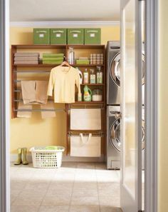 Load up on organization ideas for your laundry room.