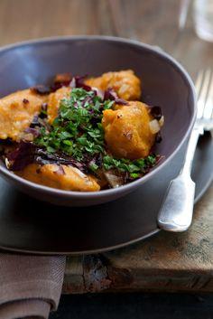 pumpkin dumplings with radicchio - Vegetarian Thanksgiving Recipes - Well - NYTimes.com