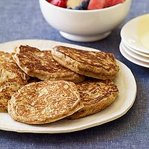 Cinnamon-Oat Whole Wheat Pancakes