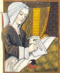 Margery Kempe (1373–1438, English) Woman writing.