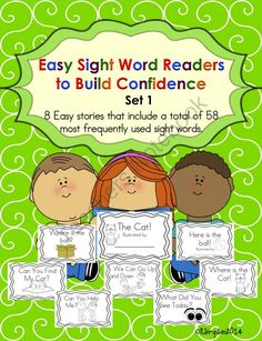 Easy Sight Word Readers to Build Confidence from Sunshine and Lollipops on TeachersNotebook.com -  (49 pages)  - These sight word readers can be used as an intervention,Guided Reading and sight word recognition. Each story includes and reading response sheet and comprehension questions.