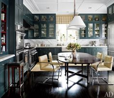 the table...   Houston Decorator J. Randall Powers' Refined Houston Home Before and After : Architectural Digest