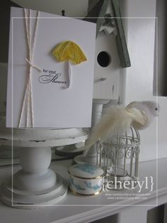 quilled shower card