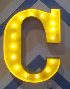 Vintage Marquee Lights Wall Letter #SocialCircus