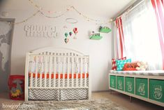 Colorful circus gender neutral nursery for baby Peanut – The reveal!